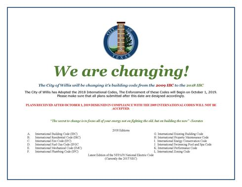 Link to flyer regarding changes in building codes Opens in new window